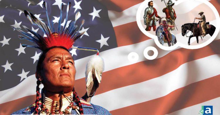americain autochtone drapeau usa